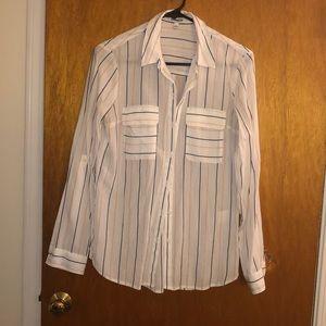 Express striped button down shirt